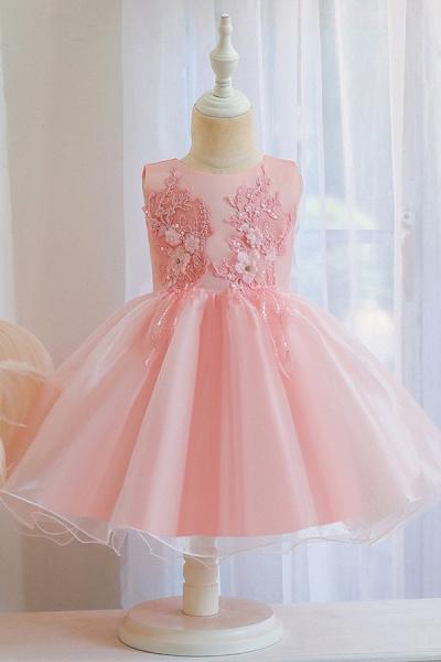 FS9966 Appliques Sleeveless Scoop Ball Gown Wedding Dress_2