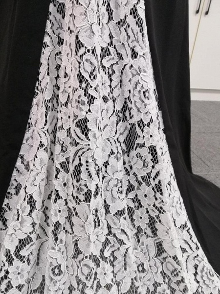 BA4780 Spaghetti Straps Mermaid Lace Satin Bridesmaid Dress_9