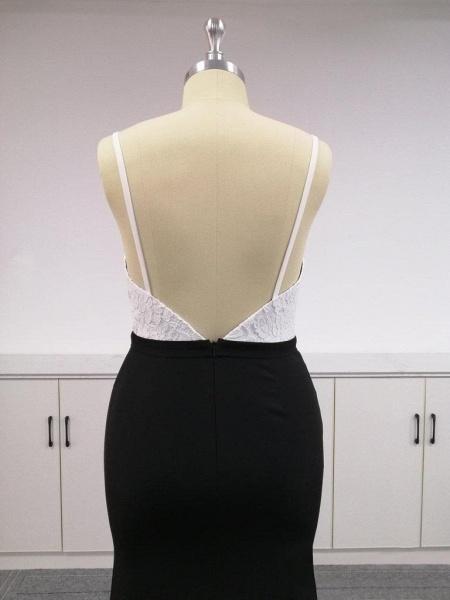 BA4780 Spaghetti Straps Mermaid Lace Satin Bridesmaid Dress_7
