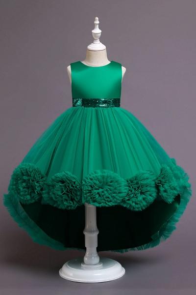 FS9980 Green Scoop Jewel Flower Girl Dress For Wedding_4