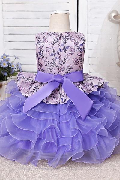 FS9963 Scoop Purple Ruffles Floor Length Flower Girl Dress_6