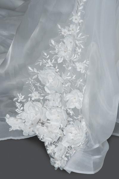 CPH251 Floral Appliques Cap Sleeve Jewel Ball Gown Wedding Dress_5