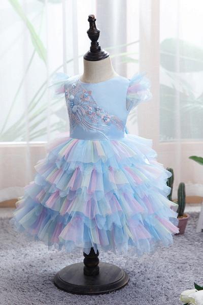 FS9971 Yellow Tulle Ruffles Ball Gown Wedding Dress_11