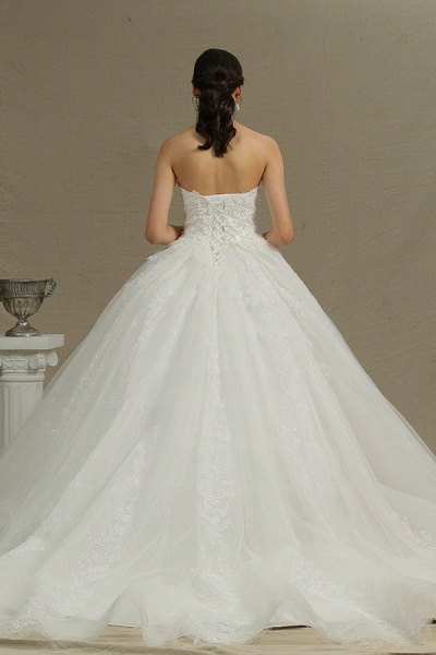 CPH229 Gergrous Off The Shoulder Appliques Sweetheart Ball Gown Wedding Dress_3