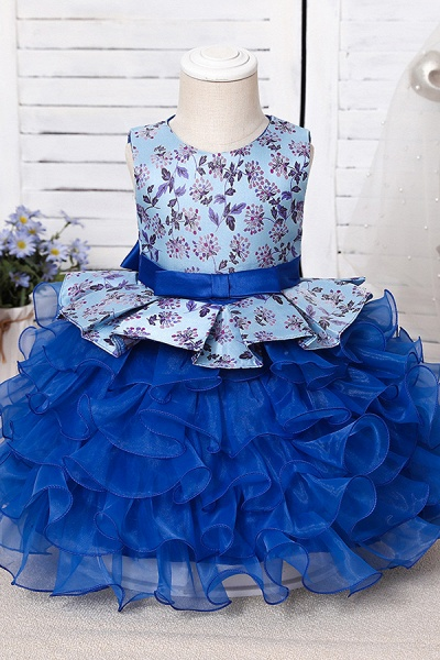 FS9963 Scoop Purple Ruffles Floor Length Flower Girl Dress_8