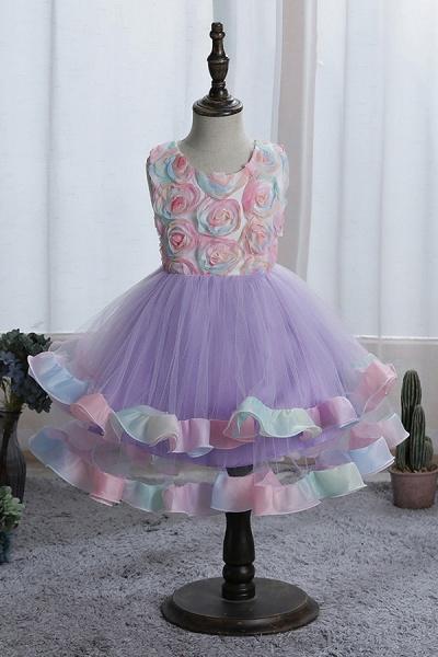 FS9978 Princess Floral Tulle Flower Girl Dress_3