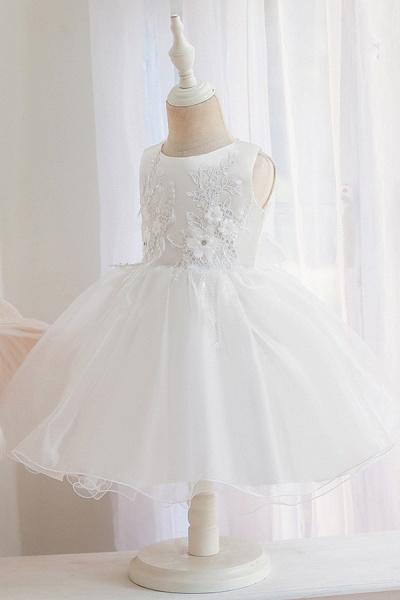FS9966 Appliques Sleeveless Scoop Ball Gown Wedding Dress_6