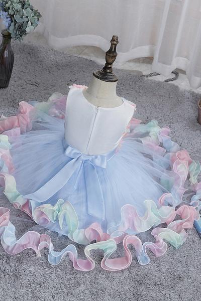 FS9978 Princess Floral Tulle Flower Girl Dress_6