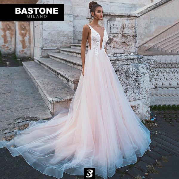 EC236 Wedding Dresses Boho Sleeveless V Neck_1