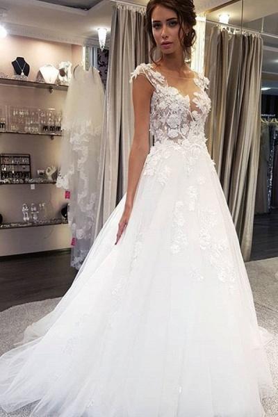 BC5900 Graceful White Lace Appiliques Wedding Dresses Long_3