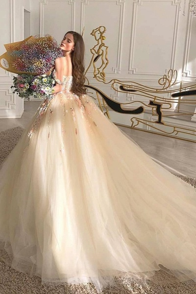 BC5903 Graceful Sweetheart Tulle Beading Appliques Wedding Dresses Ball Gown_1