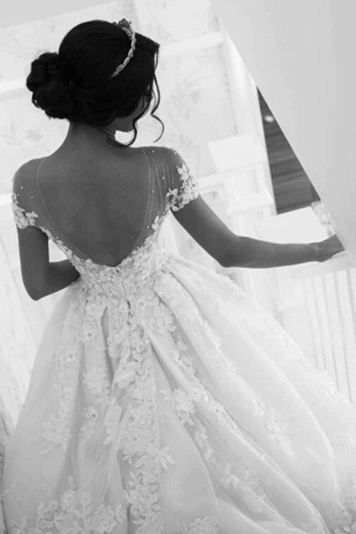 BC5905 Gorgeous Tulle Jewel Beading Appliques Wedding Dresses_4