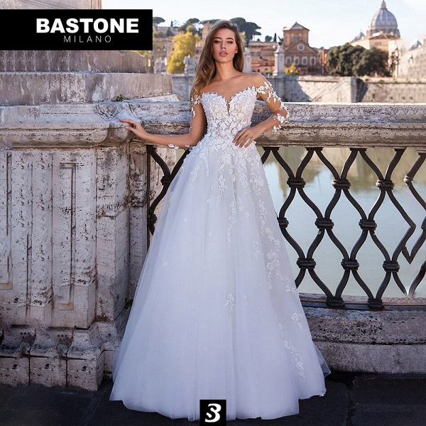 CC104L Wedding Dresses A Line Confidence Collection_1