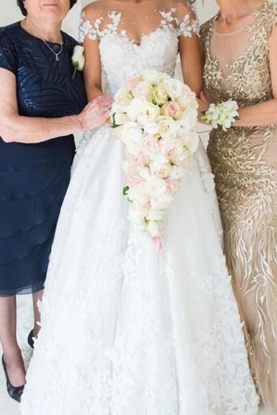 BC5905 Gorgeous Tulle Jewel Beading Appliques Wedding Dresses_2