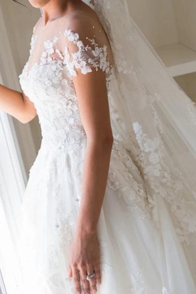 BC5905 Gorgeous Tulle Jewel Beading Appliques Wedding Dresses_3