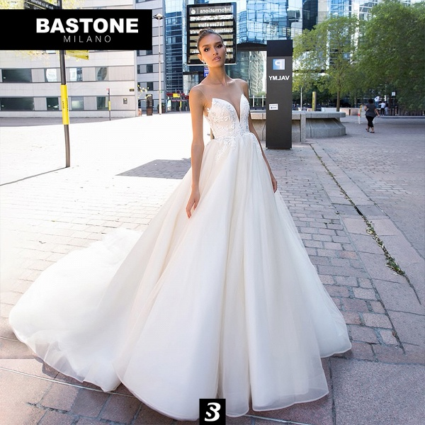 LL178L Wedding Dresses A Line Luxury Line