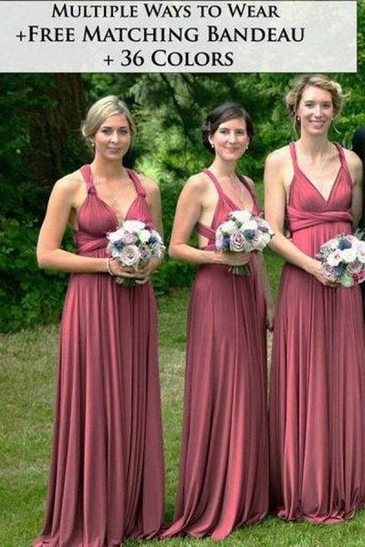 Long A-line Multiway Ways Convertible Bridesmaid Dress_1