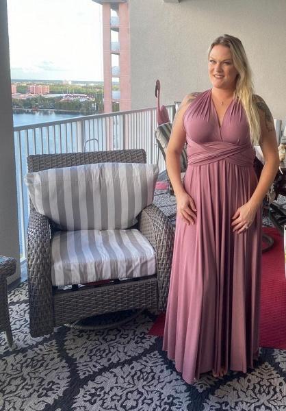 Long A-line Multiway Ways Convertible Bridesmaid Dress_4