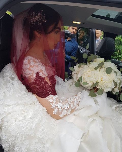 Elegant Princess Long Sleeves Lace Wedding Dresses_9