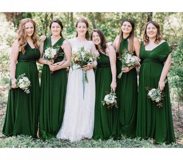 Long A-line Multiway Infinity Dark Green Bridesmaid Dress