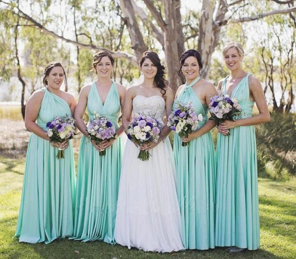 Long A-line Multiway Infinity Mint Green Bridesmaid Dress_3