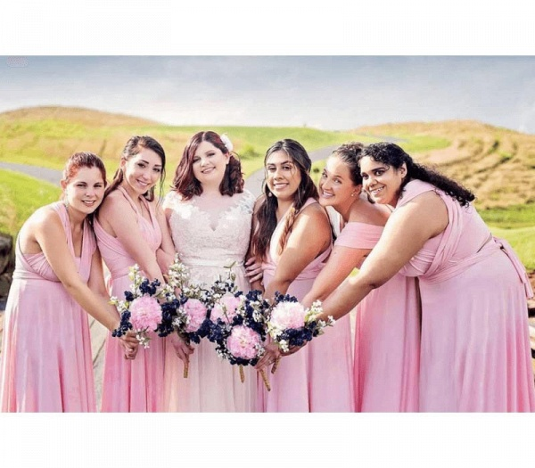 Long A-line Multiway Infinity Blushing PinkBridesmaid Dress