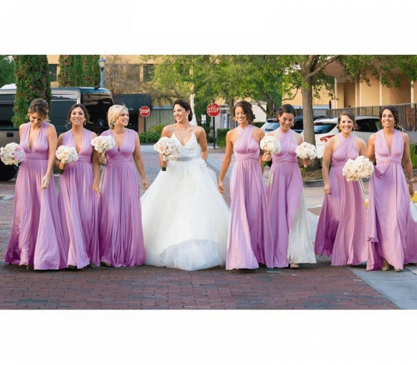 Cheap A-line Multiway Infinity Light Purple Bridesmaid Dress_5
