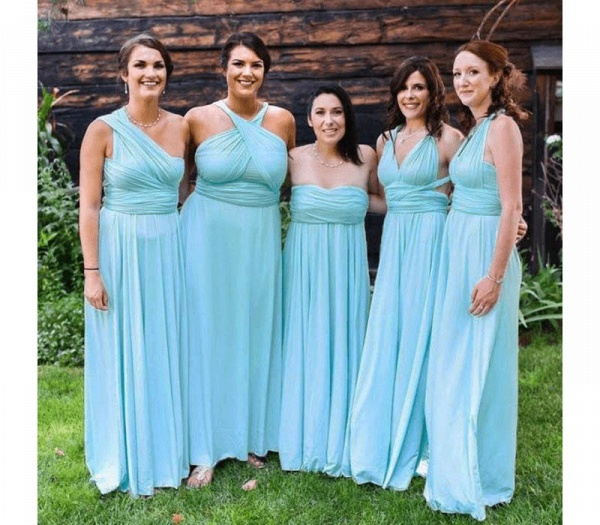 Long A-line Multiway Infinity Mint Green Bridesmaid Dress_2