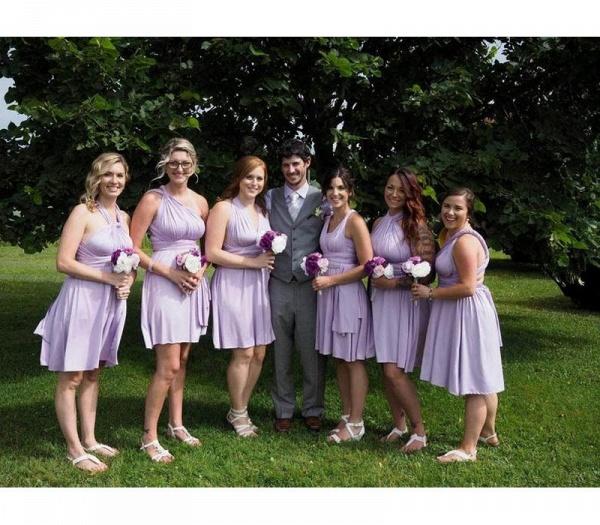 Cheap A-line Multiway Infinity Light Purple Bridesmaid Dress_4