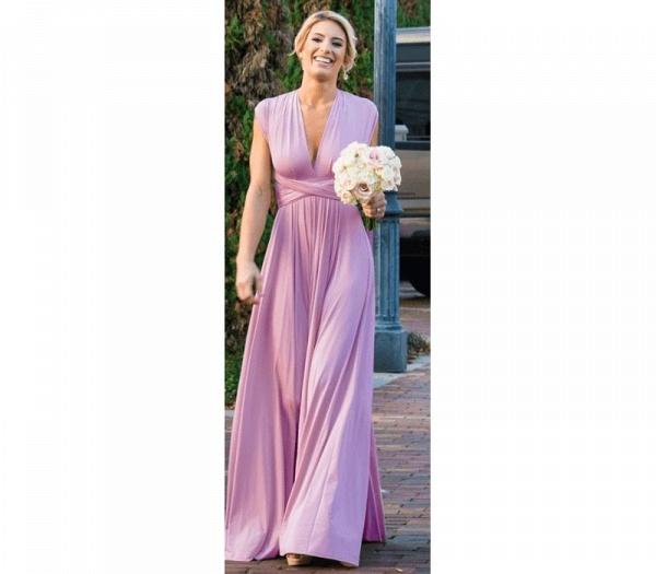 Cheap A-line Multiway Infinity Light Purple Bridesmaid Dress_6