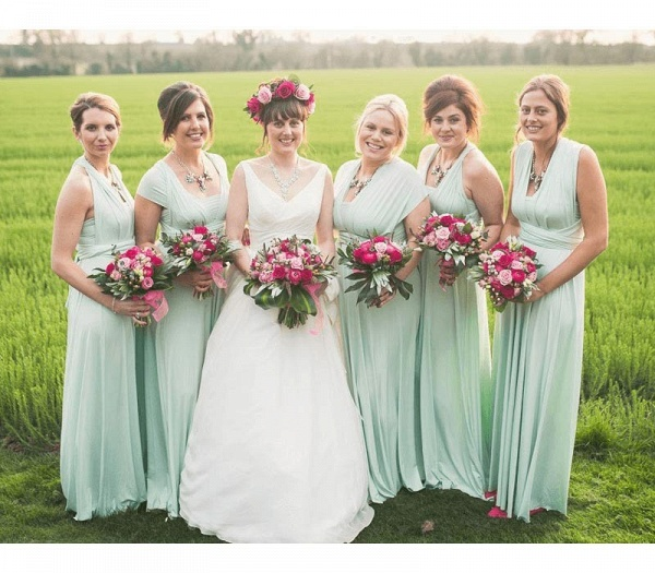 Long A-line Multiway Infinity Sage Green Bridesmaid Dress_3