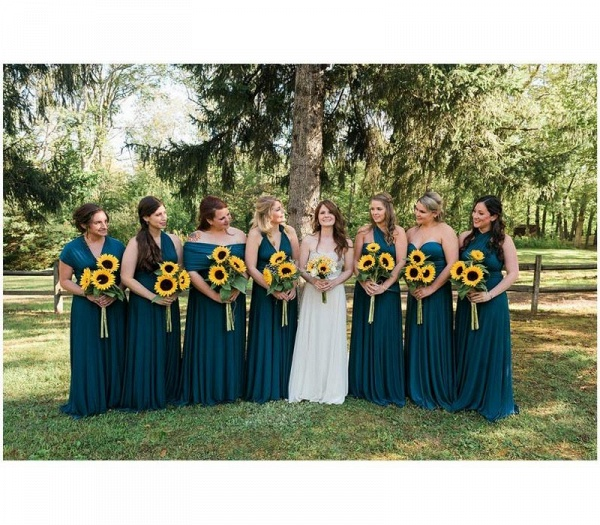 Cheap A-line Multiway Infinity Teal Green Bridesmaid Dress