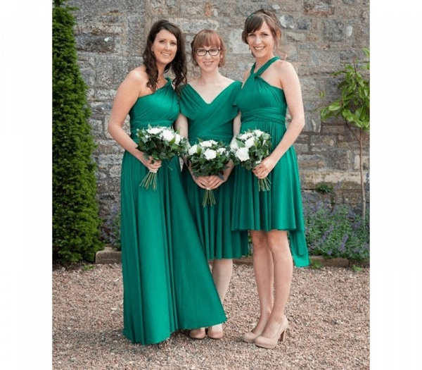 Cheap A-line Multiway Infinity Jade Bridesmaid Dress