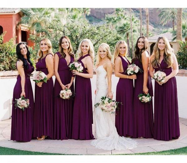 Long A-line Multiway Infinity Purple Bridesmaid Dress_2