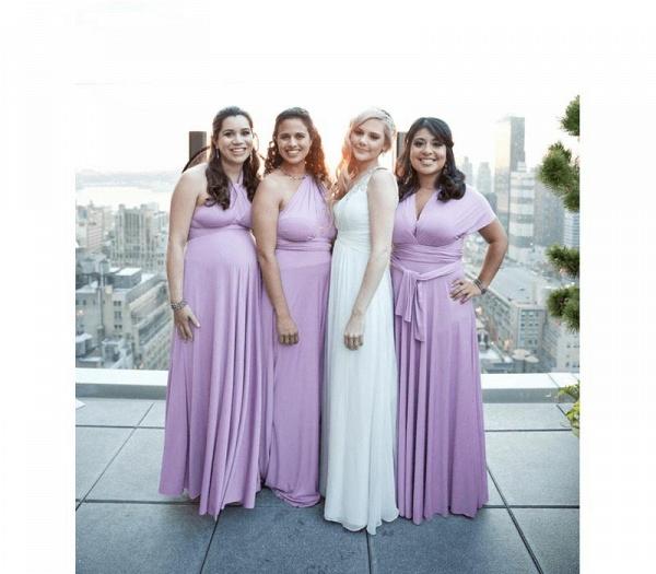 Cheap A-line Multiway Infinity Light Purple Bridesmaid Dress_2