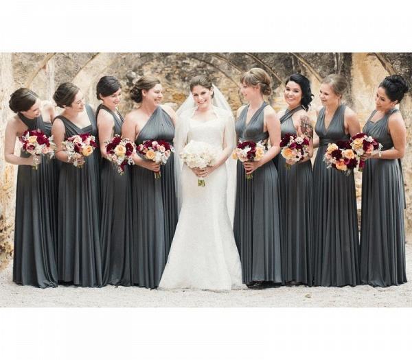 Long A-line Multiway Infinity Dark Gray Bridesmaid Dress