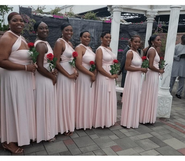 Long A-line Multiway Infinity Pearl Pink Bridesmaid Dress_4
