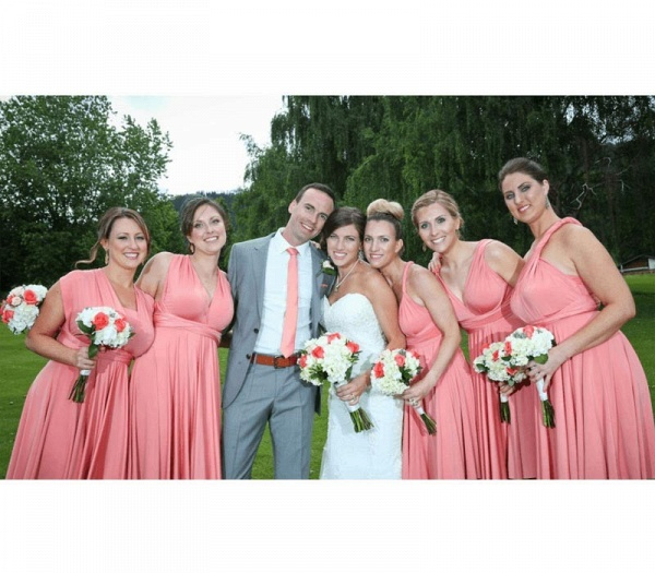 Long A-line Multiway Infinity Peach Coral Bridesmaid Dress_4