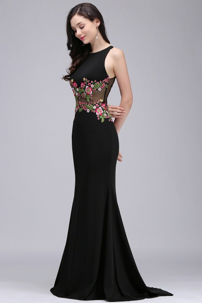 ELAINE | Mermaid Floor-length Sleeveless Prom Dresses with Embroidery-flowers_6