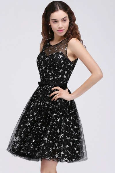 ALISHA   A Line Jewel Sheer Tulle Little Black Short Homecoming Dresses_1