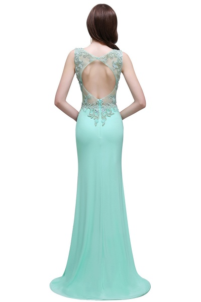 Sleek Straps Chiffon Column Prom Dress_3