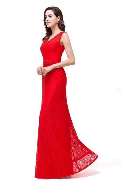 EMERIE | Mermaid Floor-length Sleeveless V-Neck Lace Prom Dresses_7