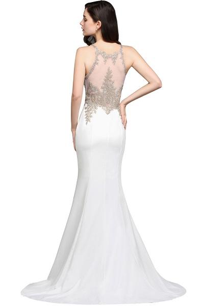 Fascinating Scoop Chiffon Mermaid Prom Dress_4