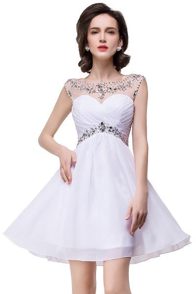 Precious Strapless Chiffon A-line Evening Dress_9