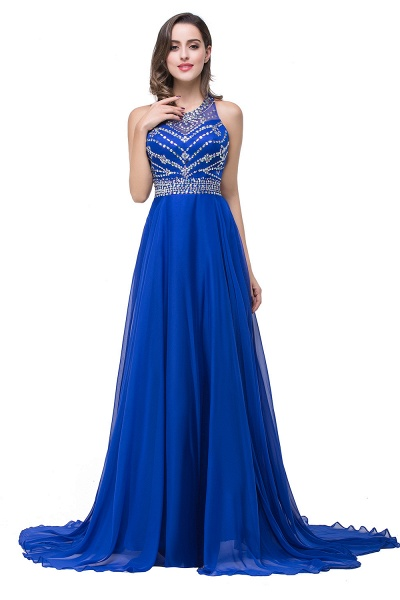 Eye-catching Jewel Tulle A-line Evening Dress_6