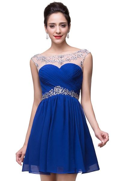 Precious Strapless Chiffon A-line Evening Dress_4