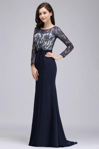 Long Sleeves Satin Mermaid Floor Length Bridesmaid Dress_3