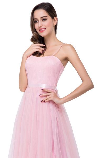ELLIS | A-line Sweetheart Floor-length Pink Tulle Ruffles Bridesmaid Dresses_12