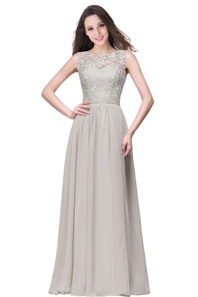Fascinating Jewel Chiffon A-line Bridesmaid Dress_8