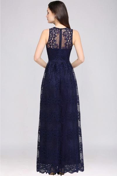 Amazing V-neck Lace Column Bridesmaid Dress_10